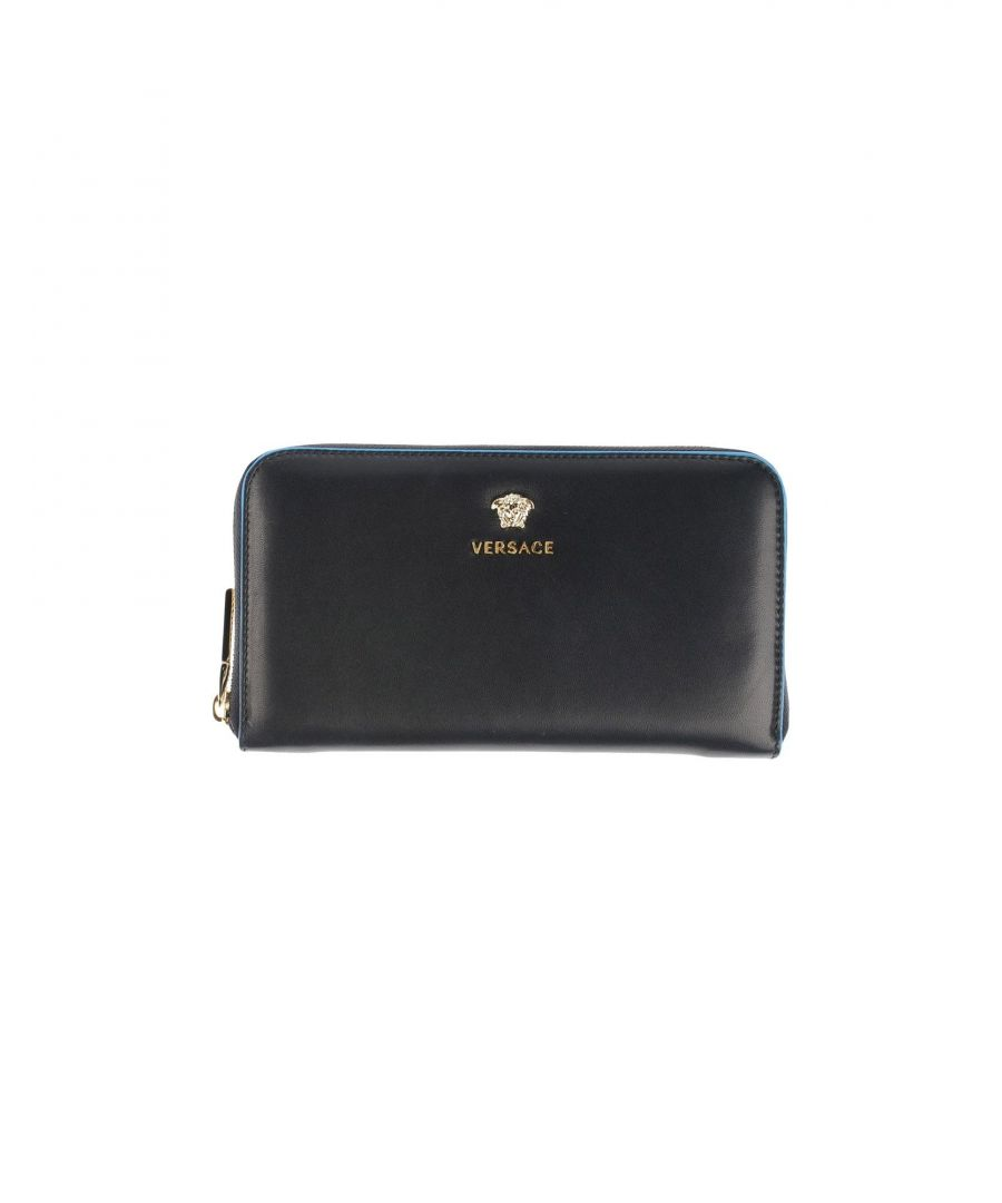 Image for Versace Dark Blue Leather Wallet