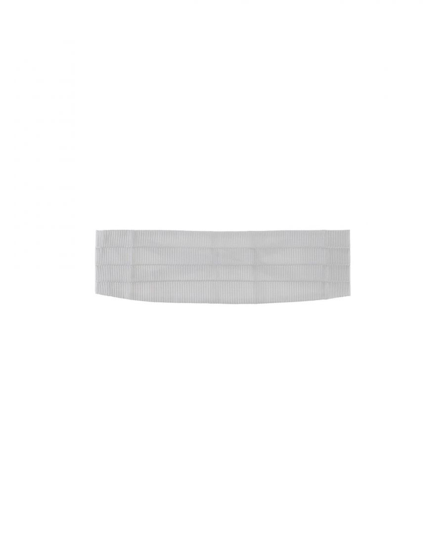 Image for Versace Ivory Silk Jacquard Belt