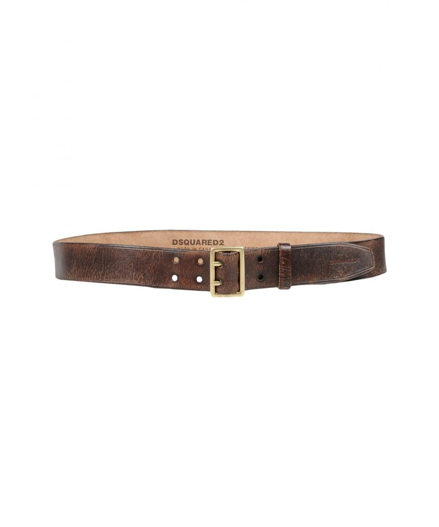 Image for Dsquared2 Dark Brown Leather Belt