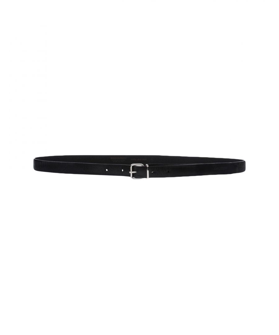 Image for Dsquared2 Black Leather Belt