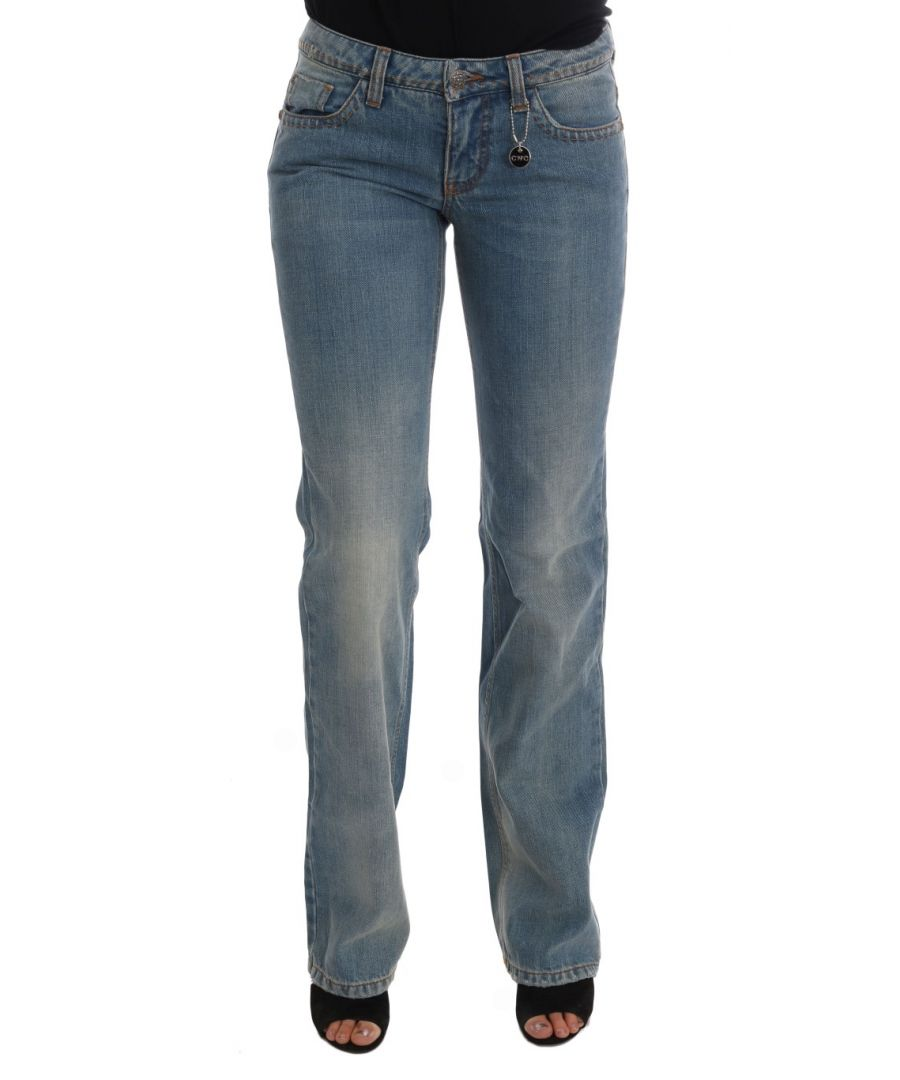 Image for Costume National Blue Wash Cotton Classic Jeans