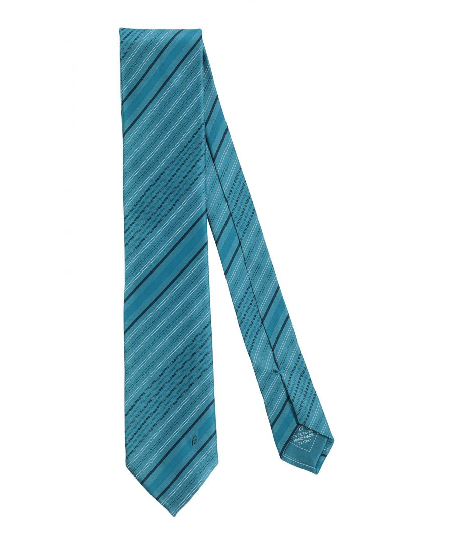 Image for Brioni Pastel Blue Stripe Silk Tie