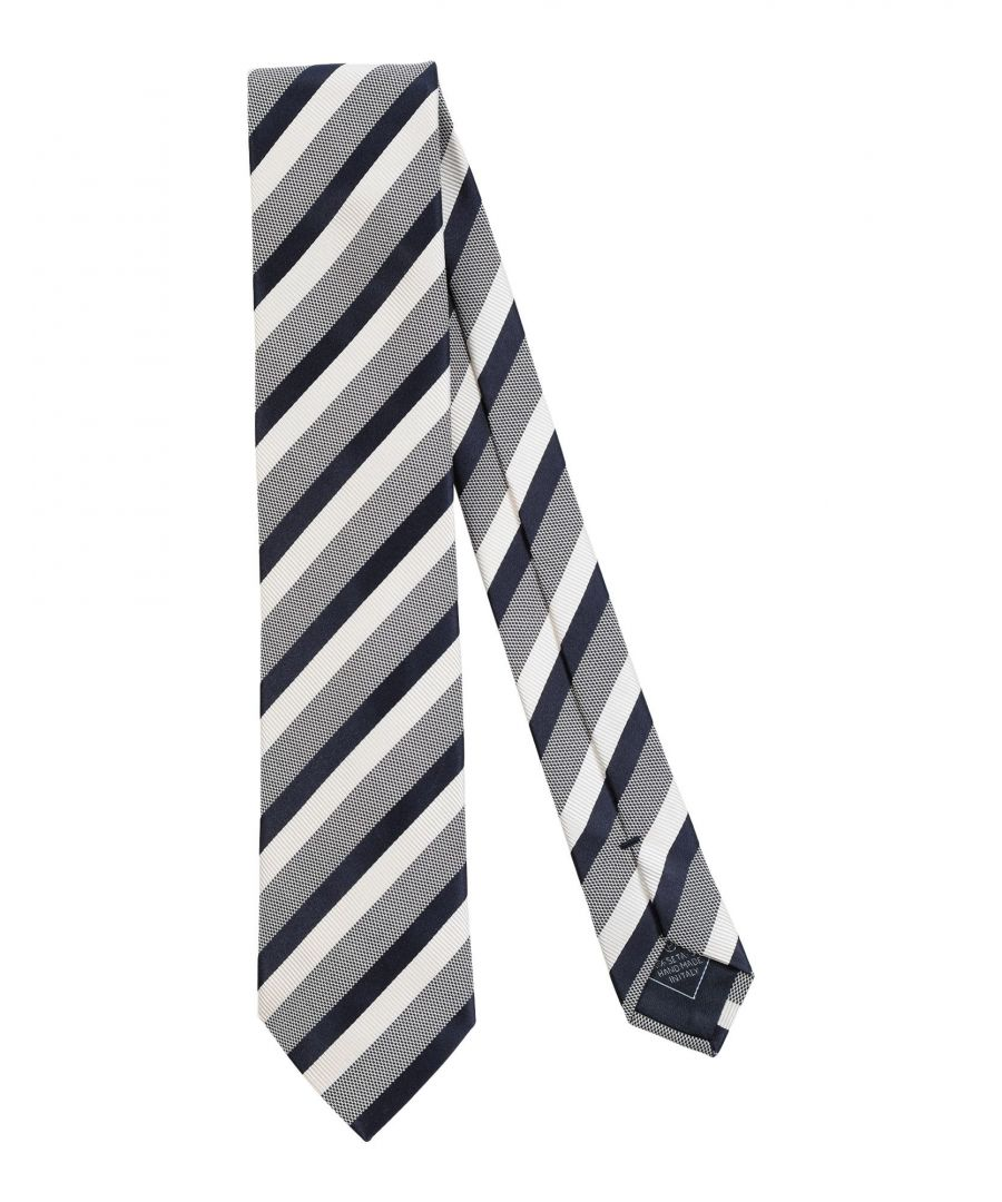 Image for Brioni Dark Blue Stripe Silk Tie