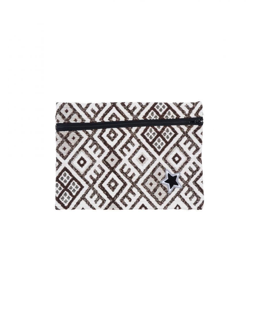 Image for Daniele Alessandrini Homme Ivory Geometric Design Cotton Pouch