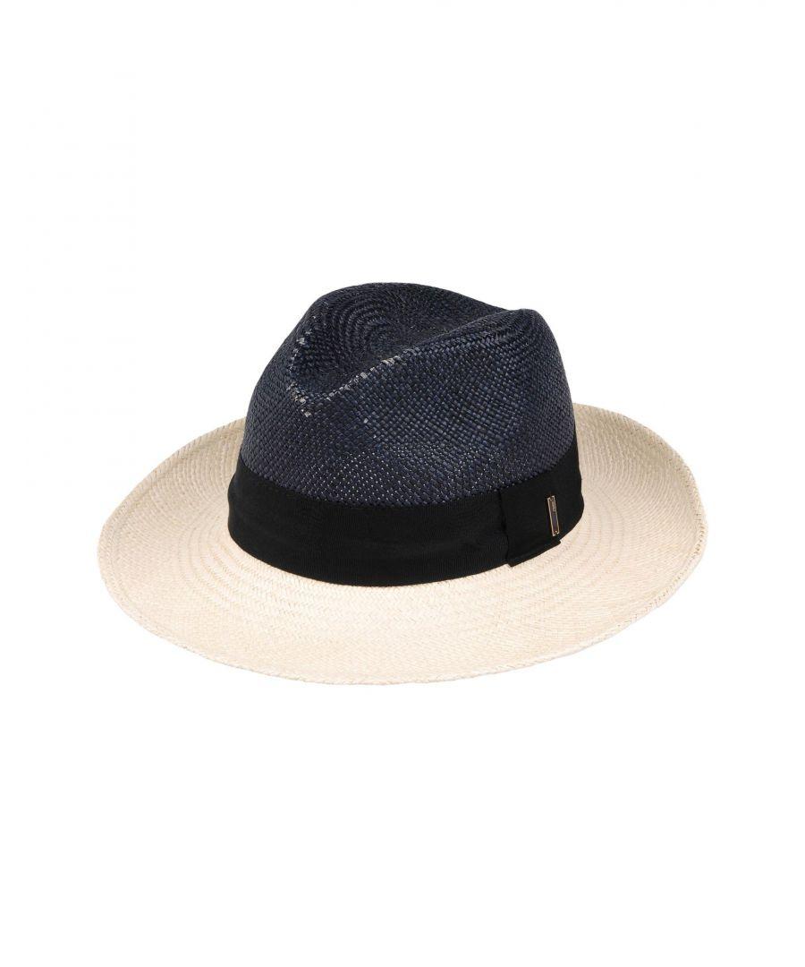 Image for Fendi Dark Blue Straw Hat