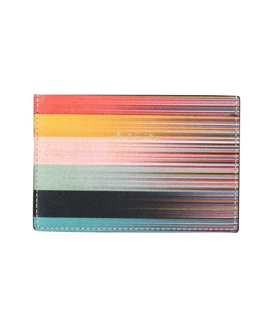 Image for Paul Smith Multicolour Printed Leather Card Holder