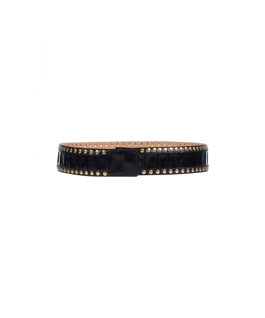 Image for Betty Blue Black Leather Studded Belt