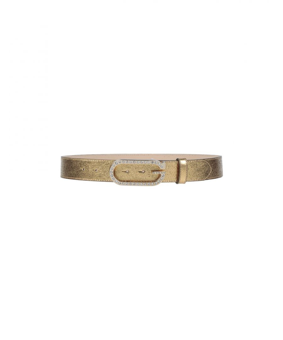 Image for Guess Gold Textured Leather Belt
