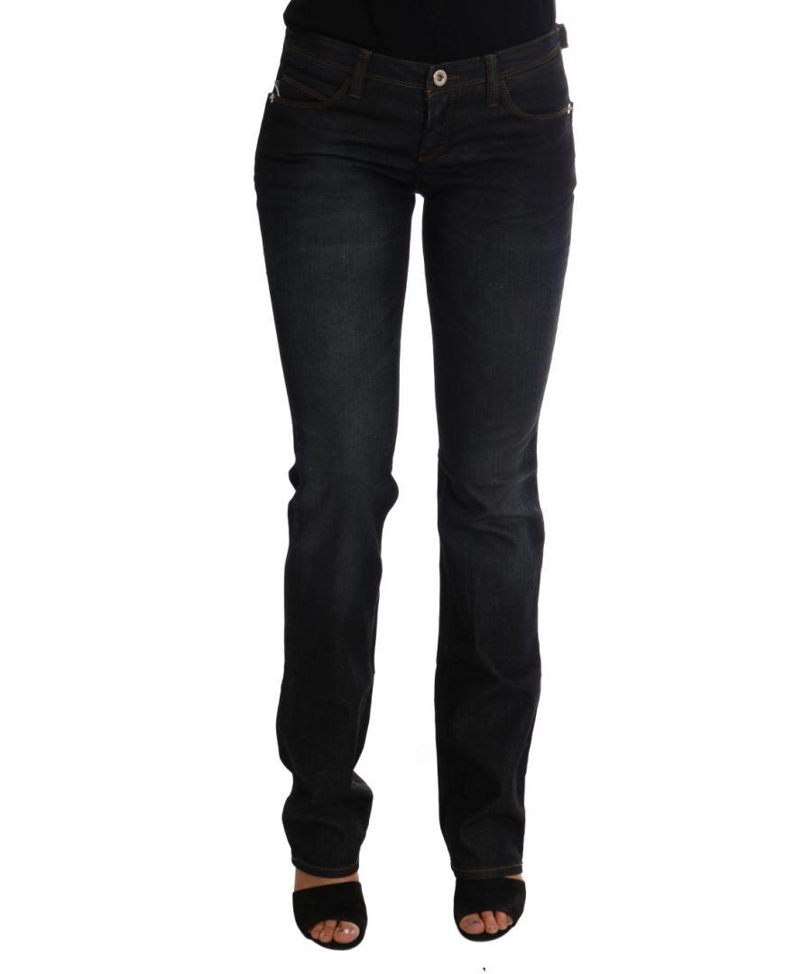 Image for Costume National Dark Blue Cotton Slim Fit Jeans