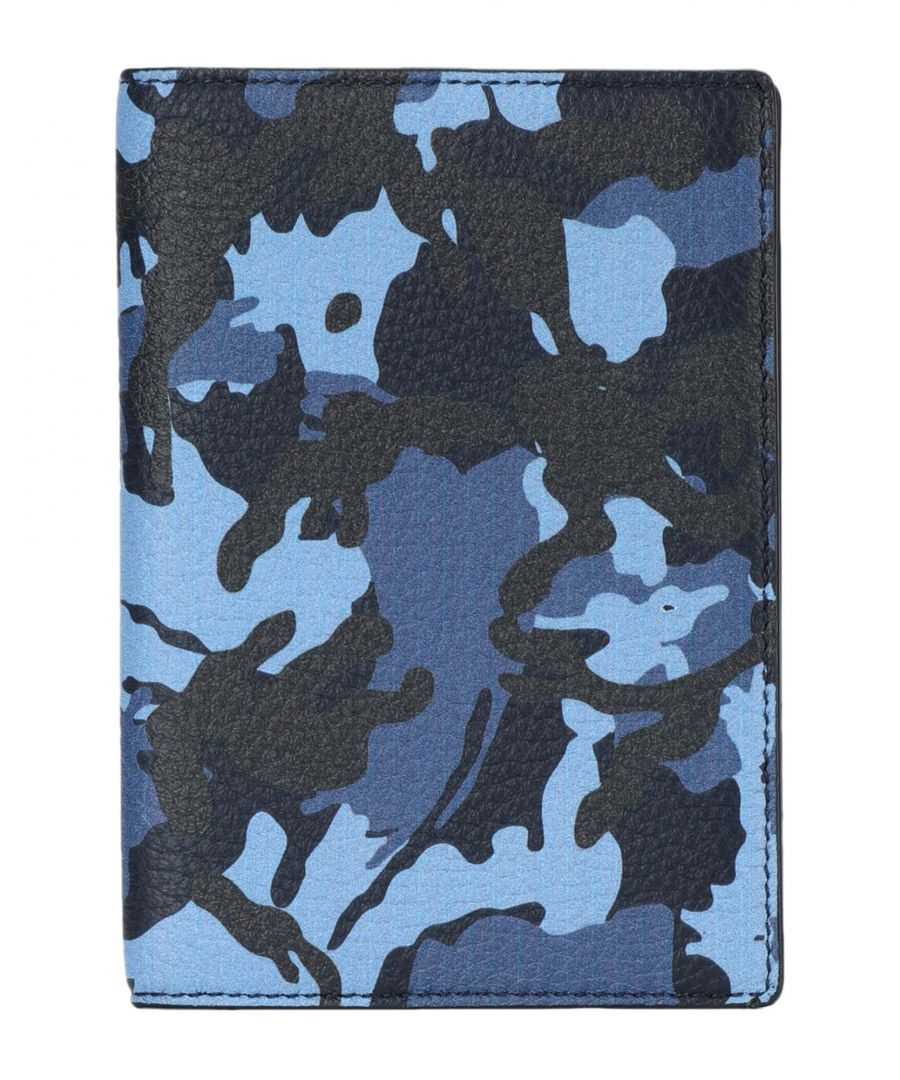 Image for Smythson Blue Camouflage Passport Folder