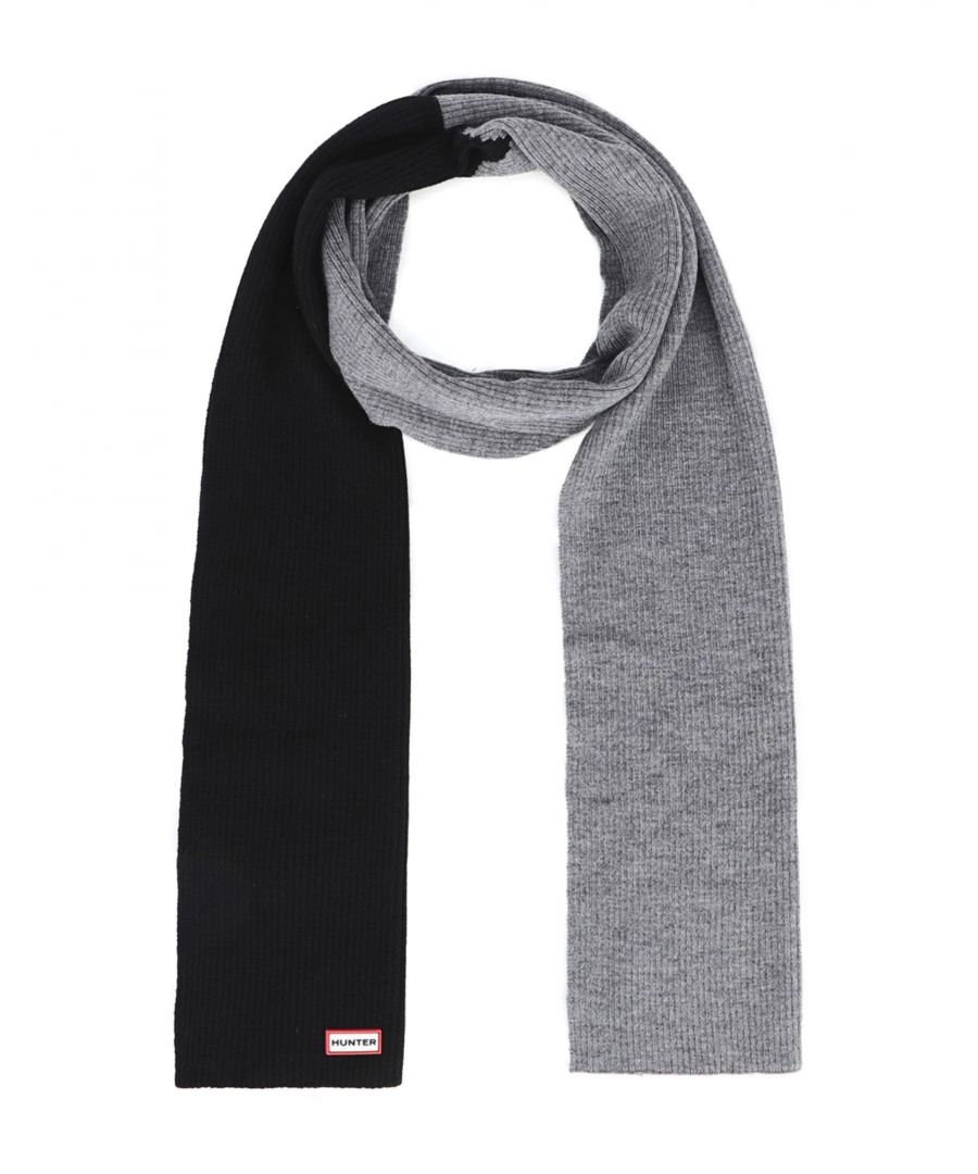 Image for Hunter Black Merino Wool Scarf