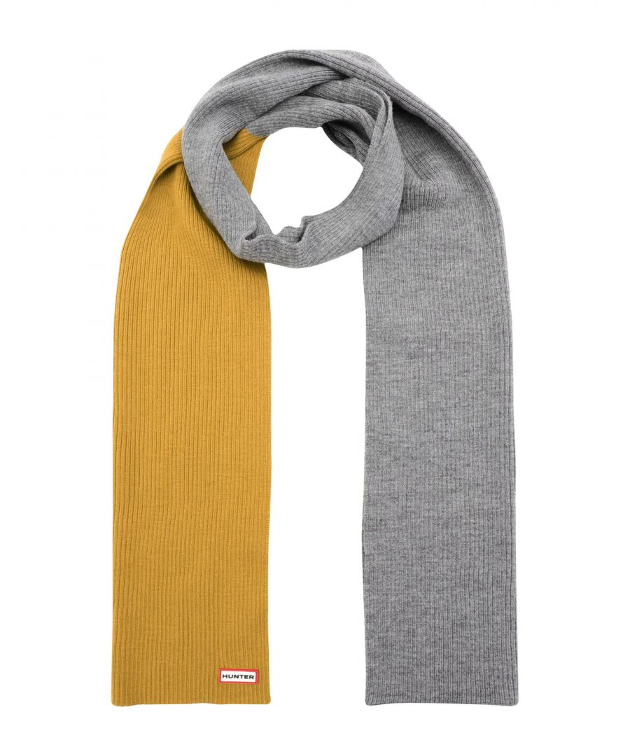 Image for Hunter Yellow Merino Wool Scarf