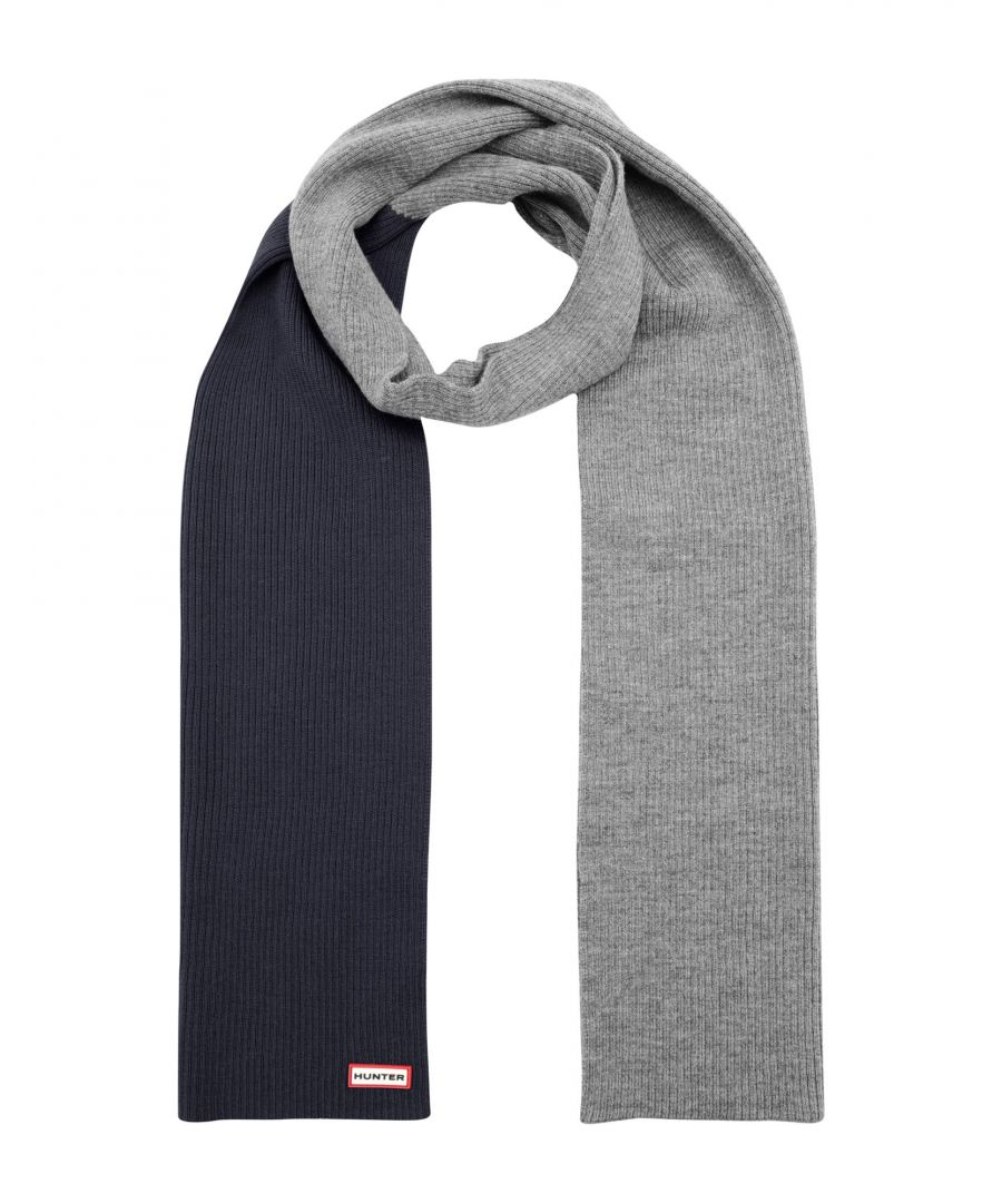 Image for Hunter Dark Blue Merino Wool Scarf