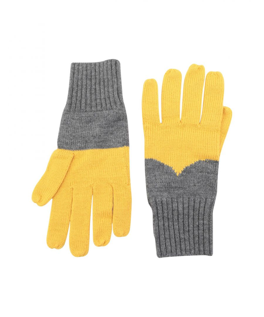 Image for Hunter Yellow Merino Wool Knit Gloves