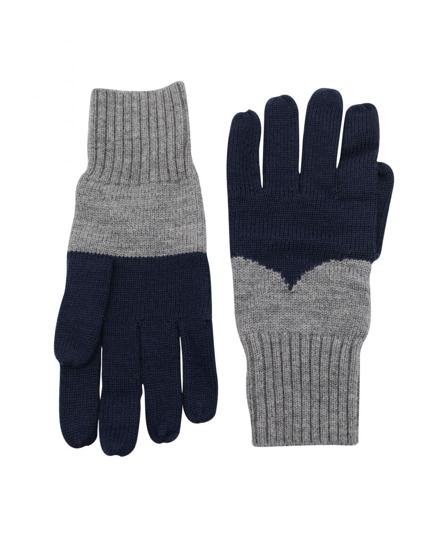 Image for Hunter Dark Blue Merino Wool Knit Gloves