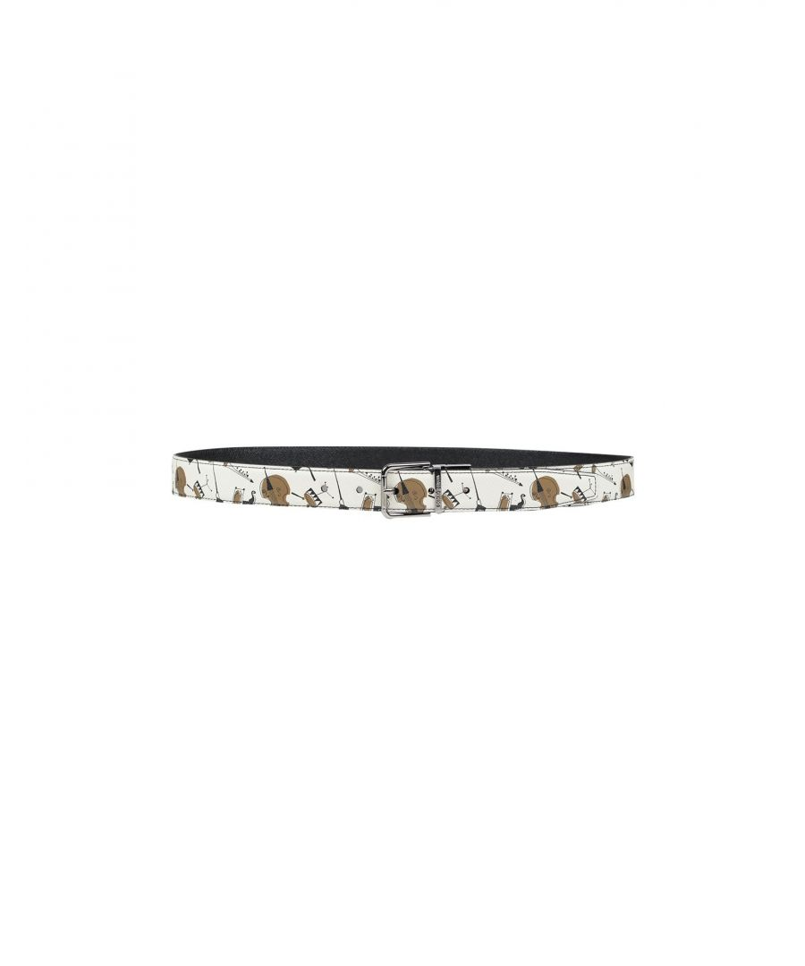 Image for Dolce & Gabbana Ivory Textured Leather Belt