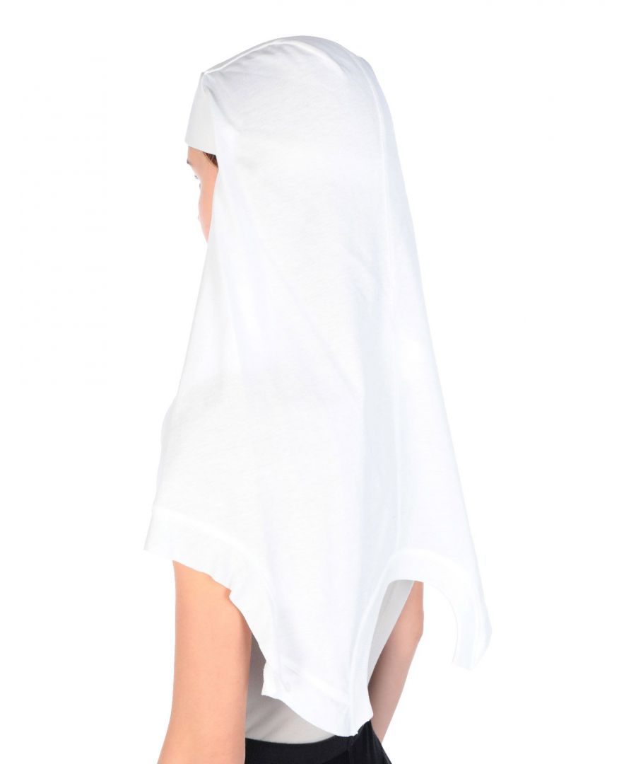 Image for Rick Owens White Cotton Headscarf