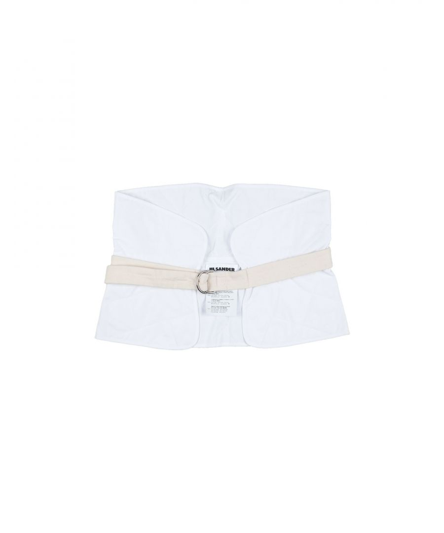 Image for Jil Sander White Cotton Canvas Belt