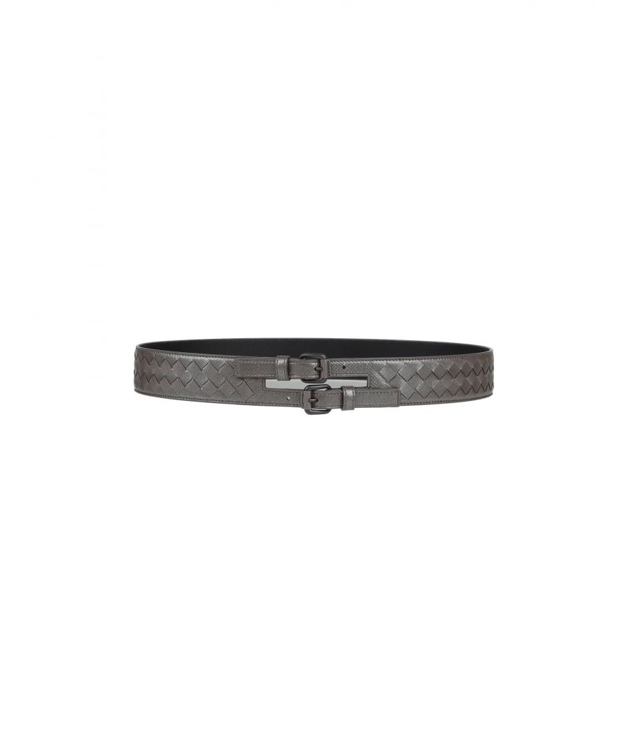 Image for Bottega Veneta Grey Leather Belt