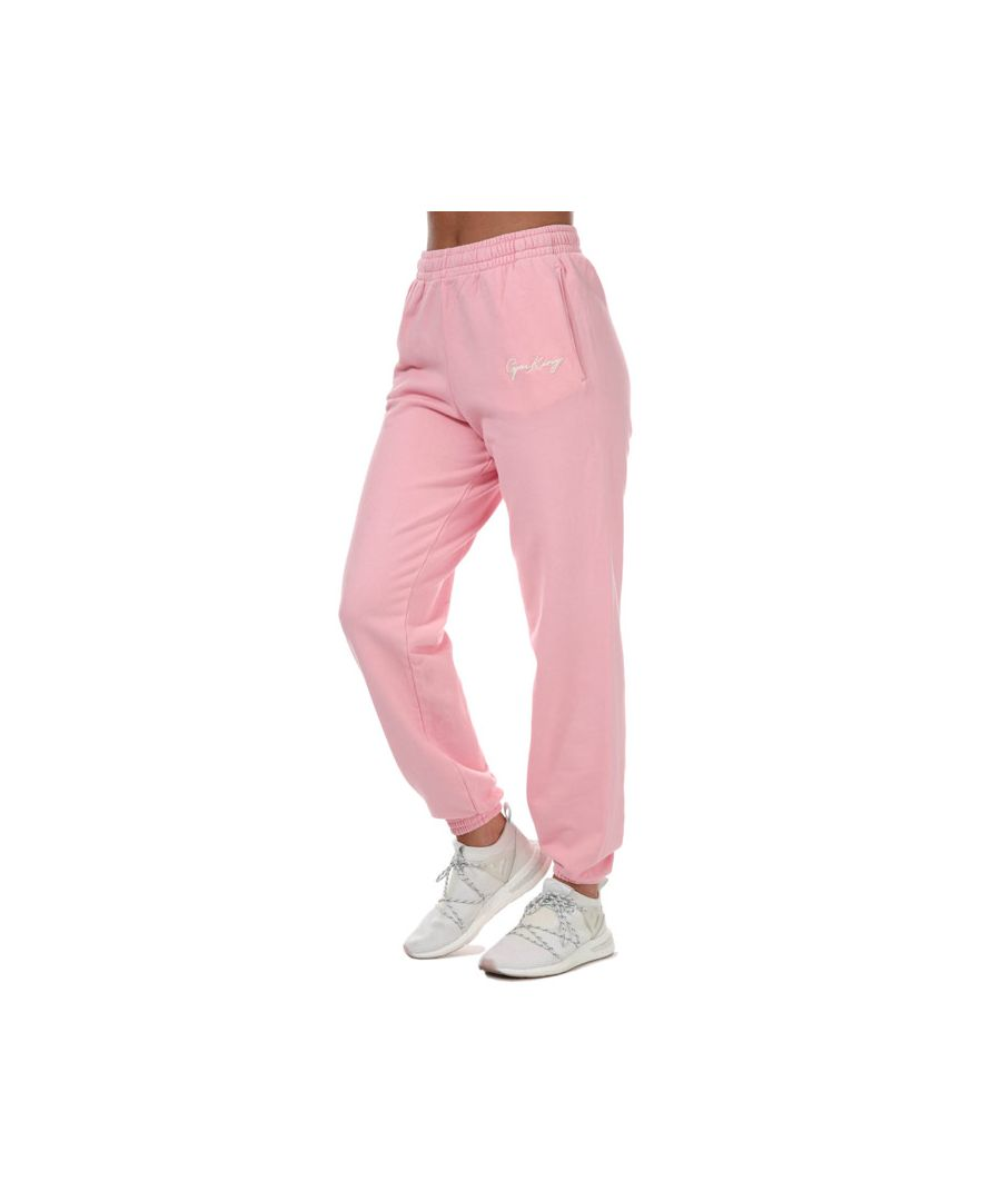Image for Women's Gym King Ambition Jog Pants in Pink yellow