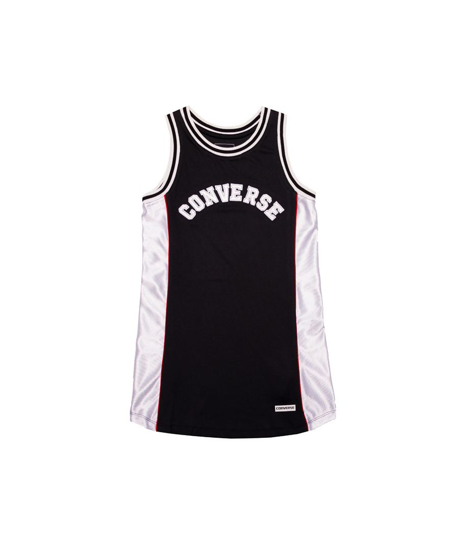 Image for Girl's Converse Junior Basketball Jersey Dress in Black