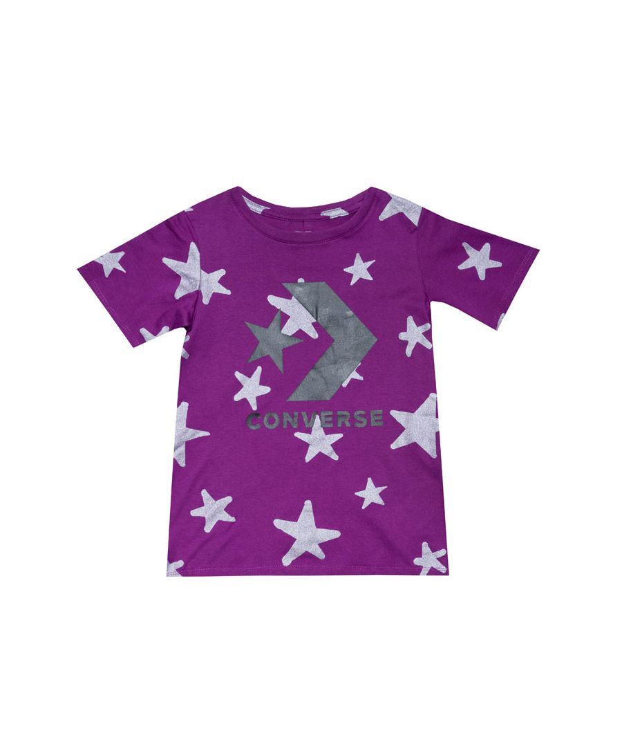Image for Girl's Converse Junior Chevron Knit Top in Violet