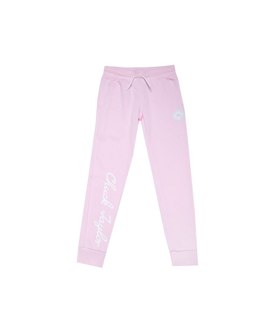 Image for Girl's Converse Junior Chuck Taylor Script F.T Joggers in Pink