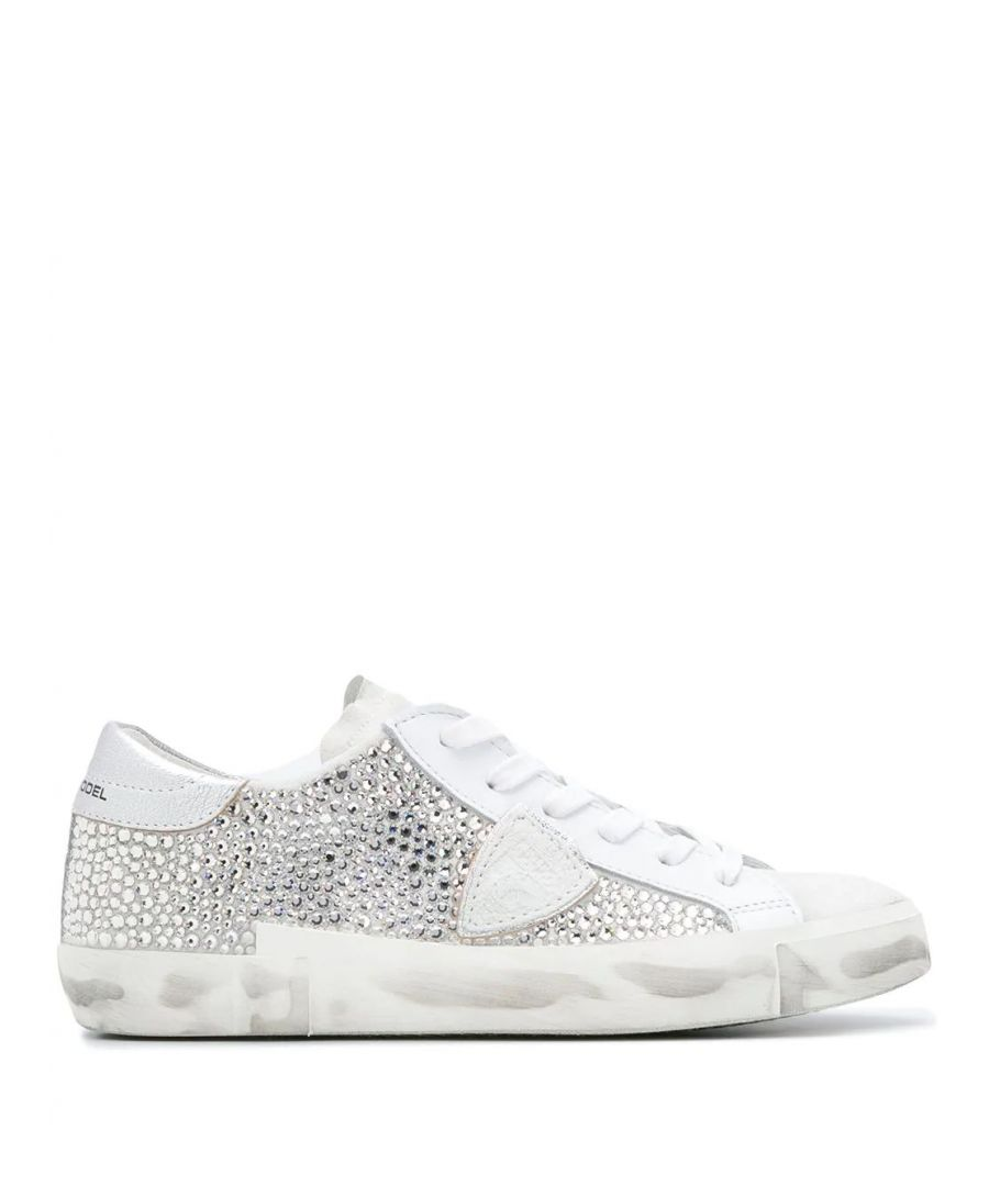 Image for PHILIPPE MODEL WOMEN'S PRLDDM02 SILVER LEATHER SNEAKERS