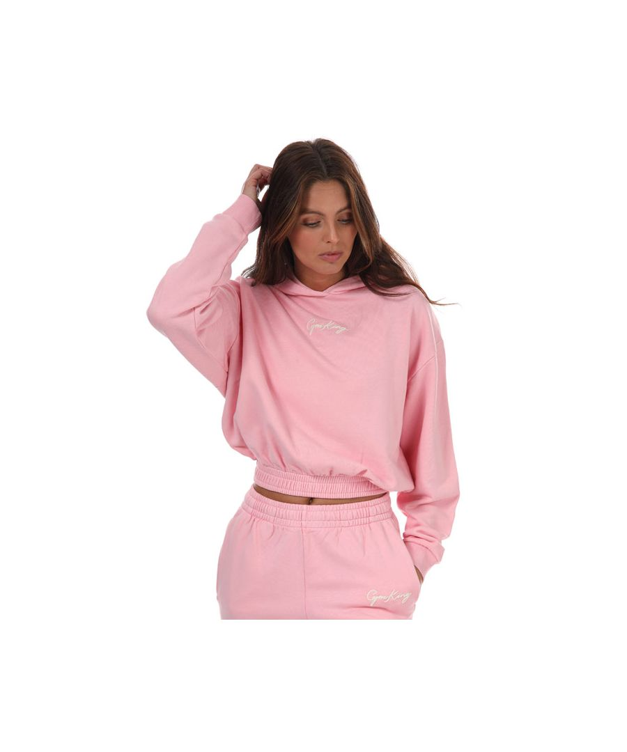 Image for Women's Gym King Ambition Hoodie in Pink yellow
