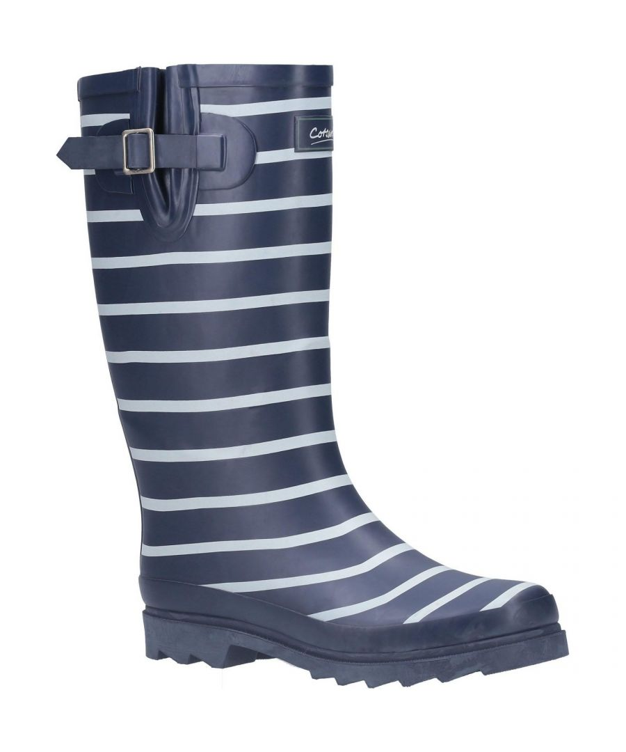 Image for Cotswold Womens/Ladies Sailor Rubber Wellington Boots (Navy)
