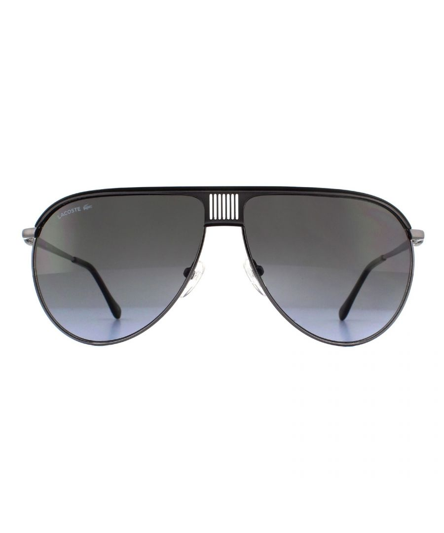 Image for Lacoste Sunglasses L200S 001 Dark Ruthenium Black Grey