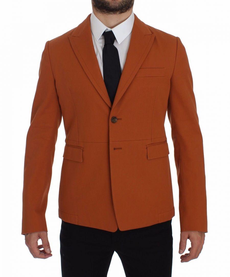 Image for Dolce & Gabbana Orange Cotton Stretch Blazer