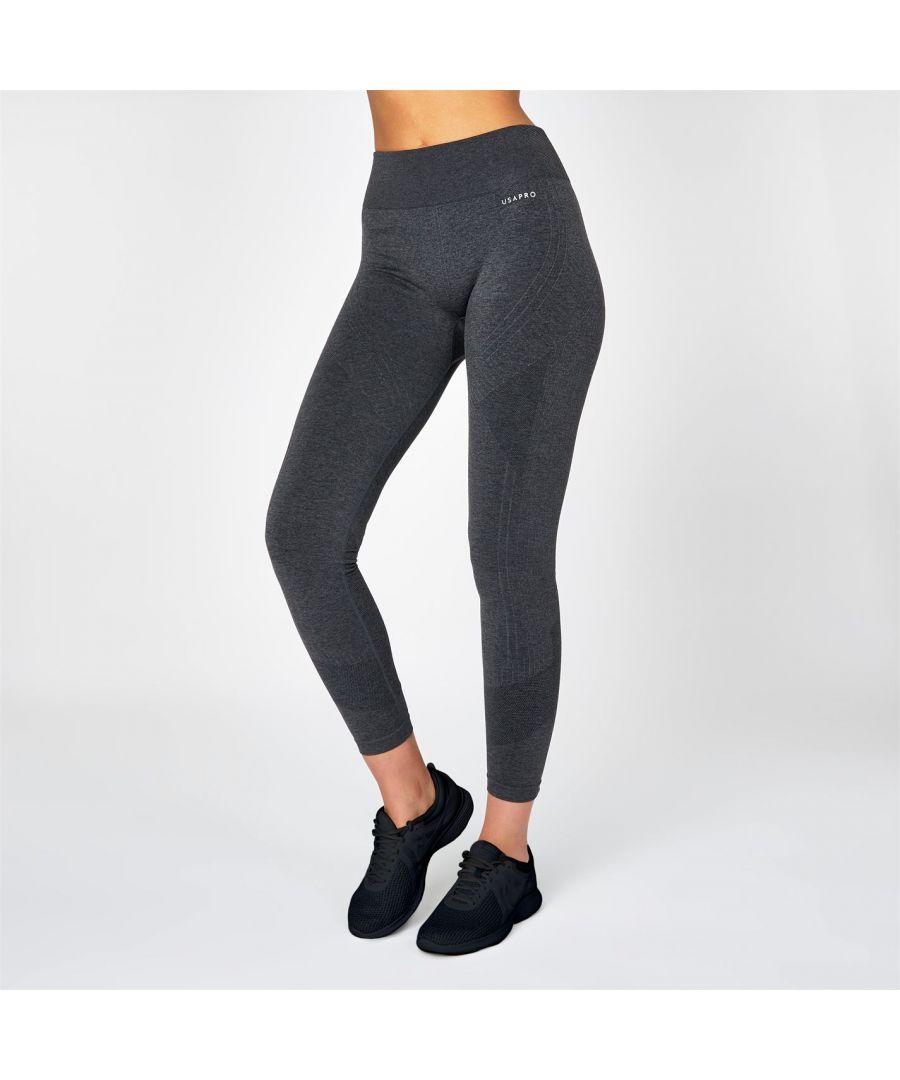 Image for USA Pro Womens High Rise Seamless Leggings