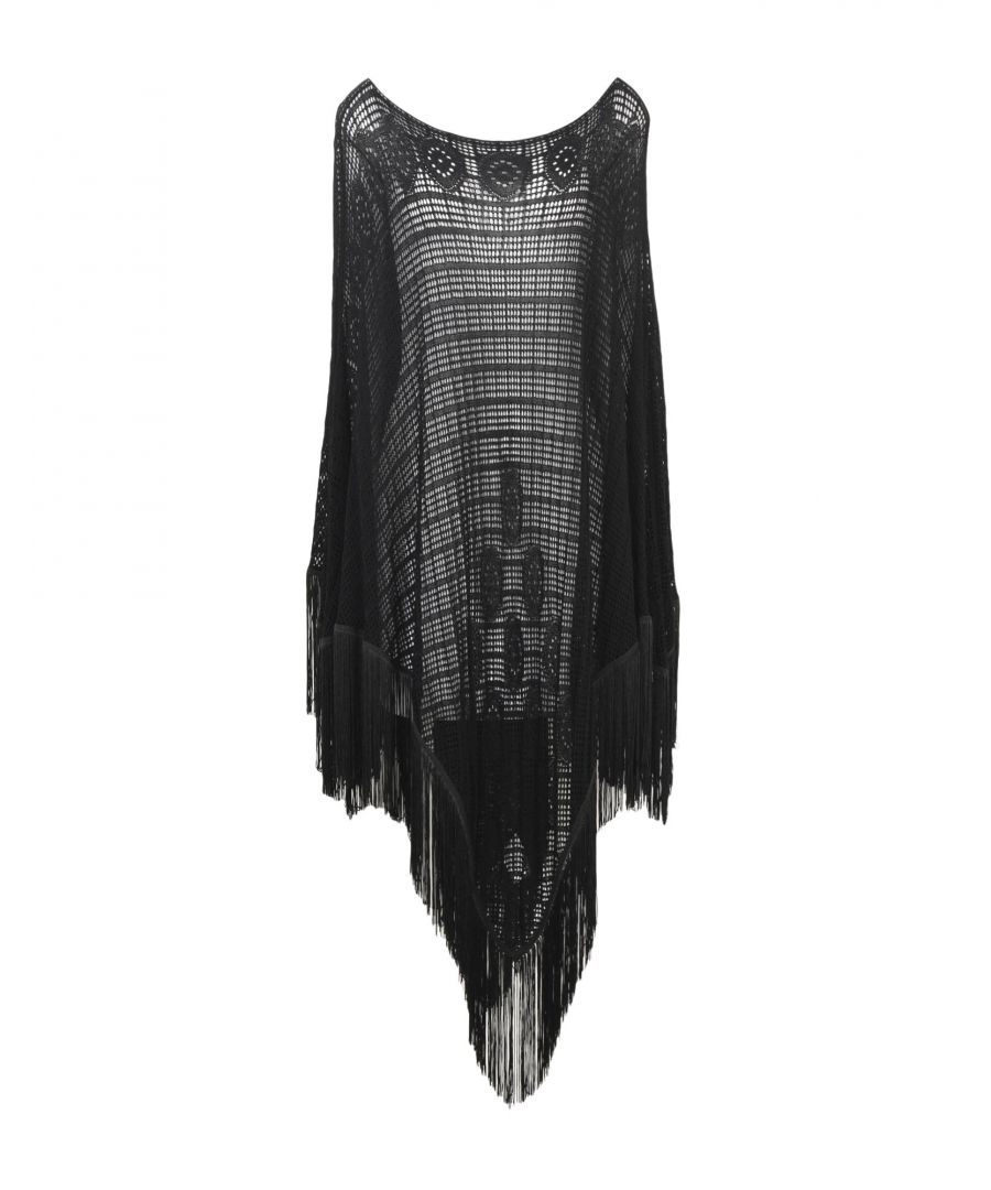 Image for Pinko Black Knitted Poncho