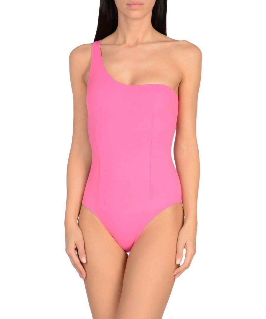 Image for Pistol Panties Fuchsia One Shoulder Swimsuit