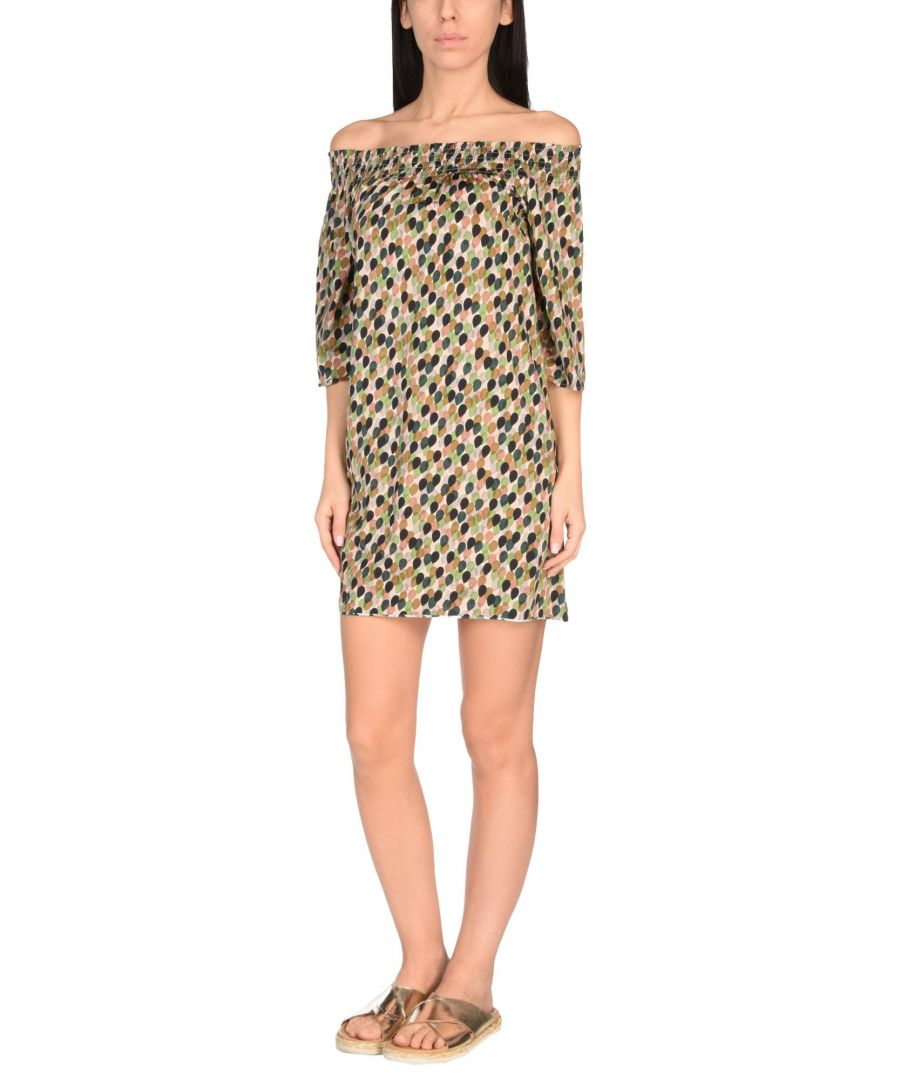 Image for Siyu Green Pattern Jersey Off The Shoulder Dress