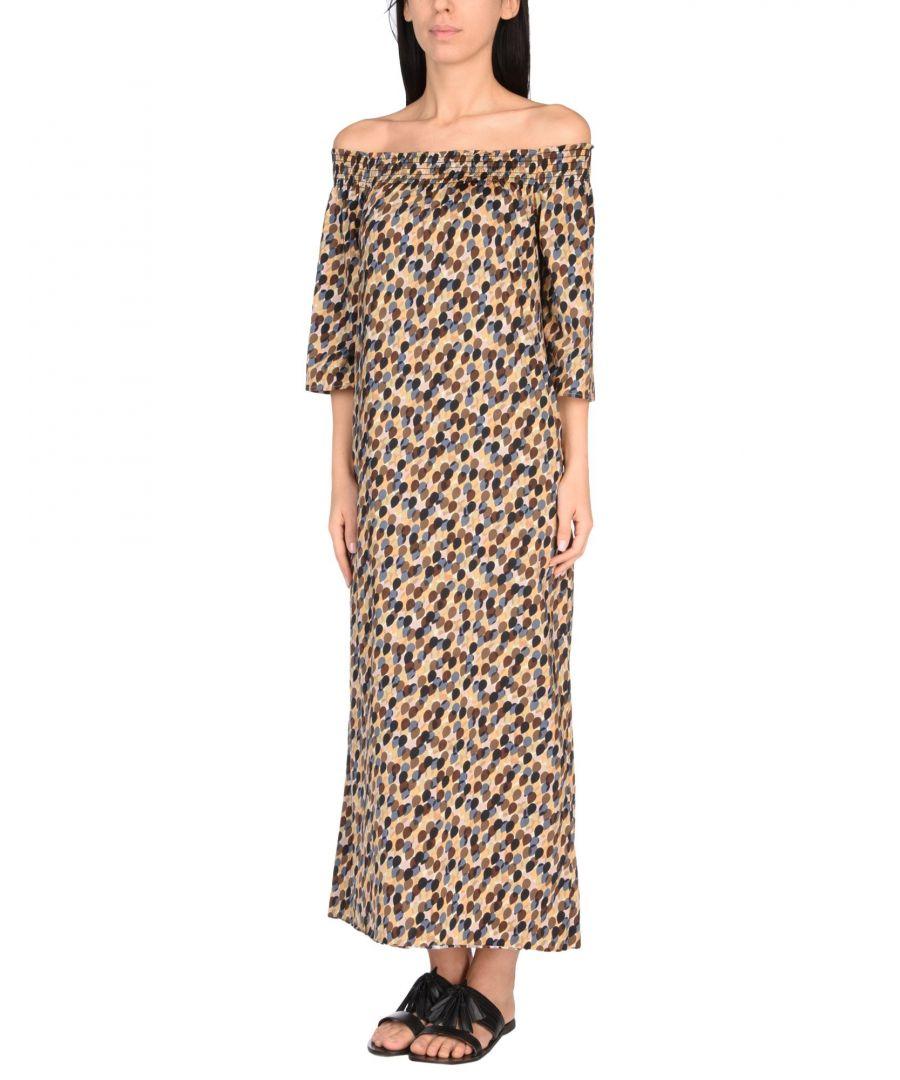 Image for Siyu Khaki Print Full Length Off The Shoulder Dress