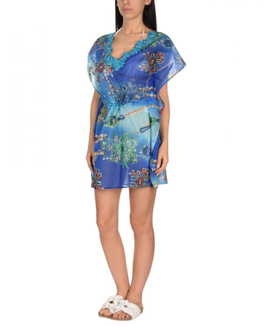 Image for Flavia Padovan Blue Cotton Beach Dress