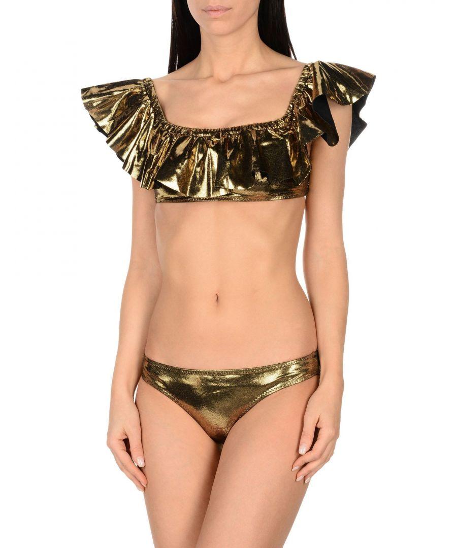 Image for Mouille' Gold Off The Shoulder Bikini Set