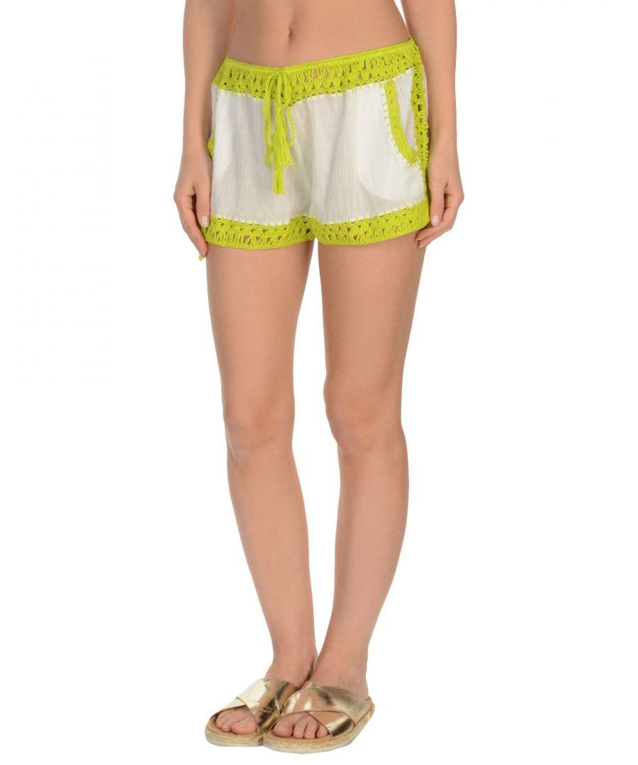 Image for Anna Kosturova Light Green Cotton Shorts