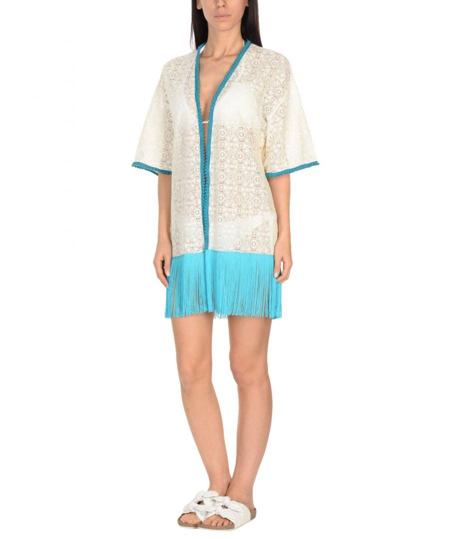 Image for Paolita Blue Fringe Lace Kimono