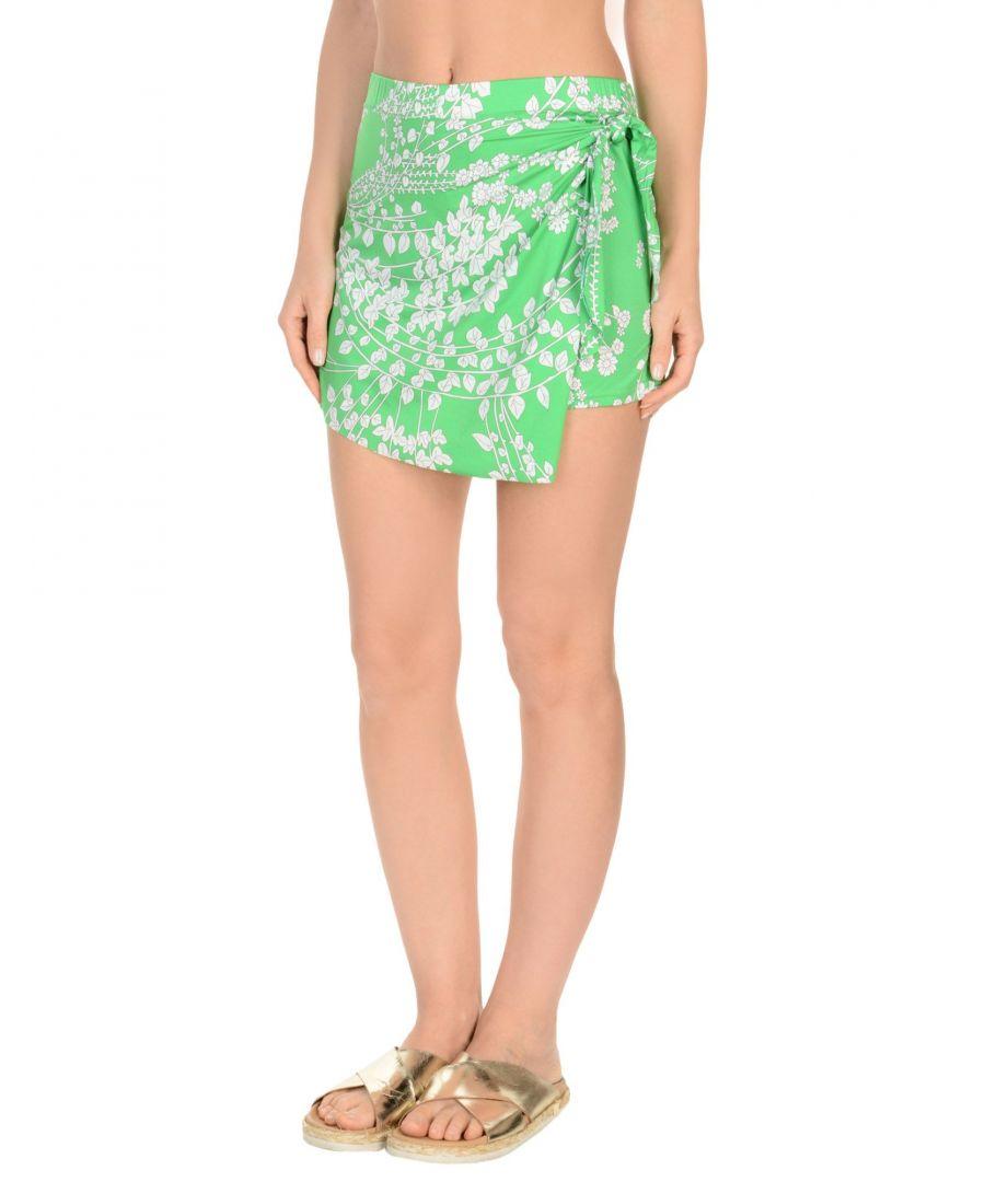 Image for Marisa Padovan Light Green Floral Print Skirt