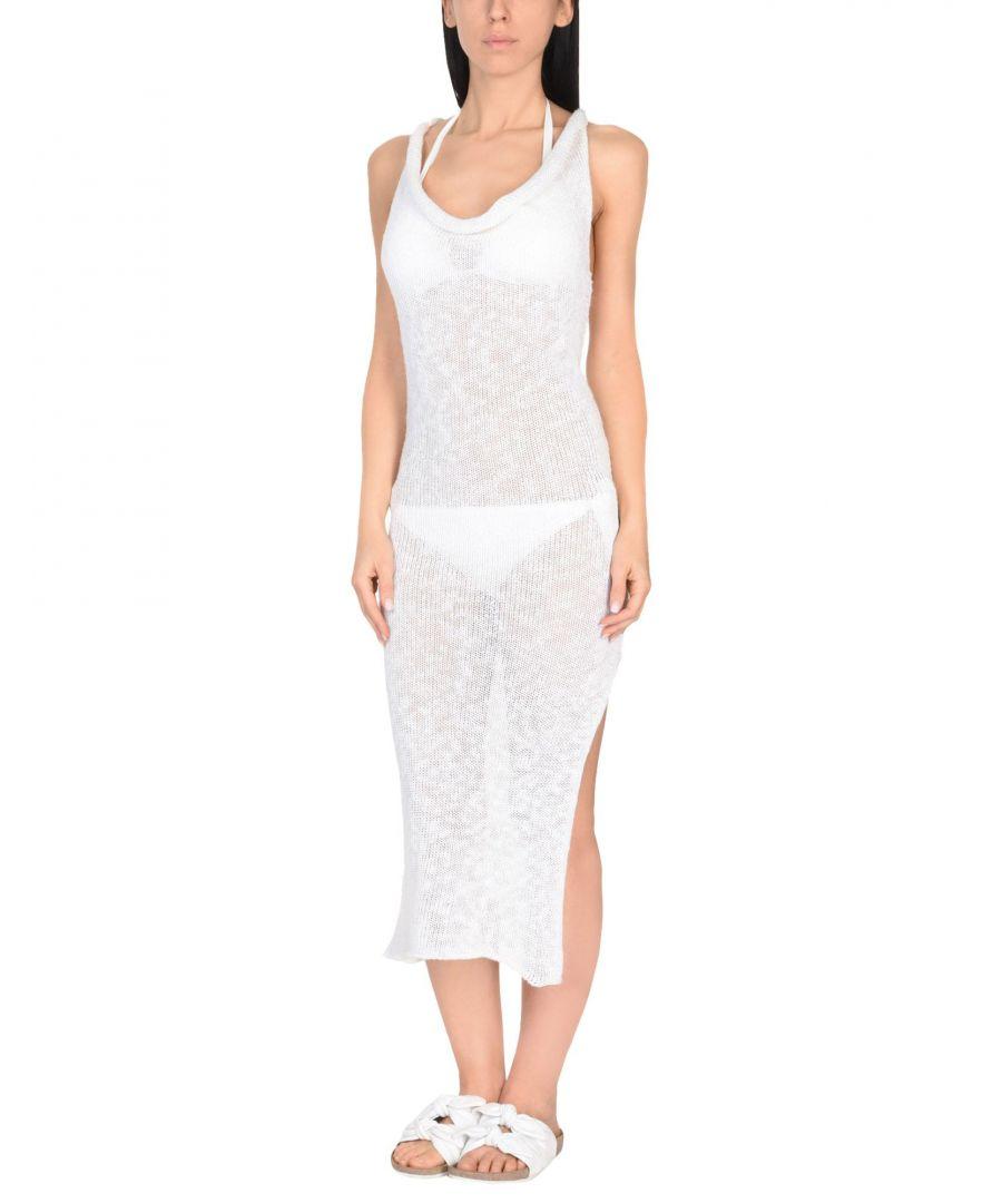 Image for Marisa Padovan White Linen Knit Dress