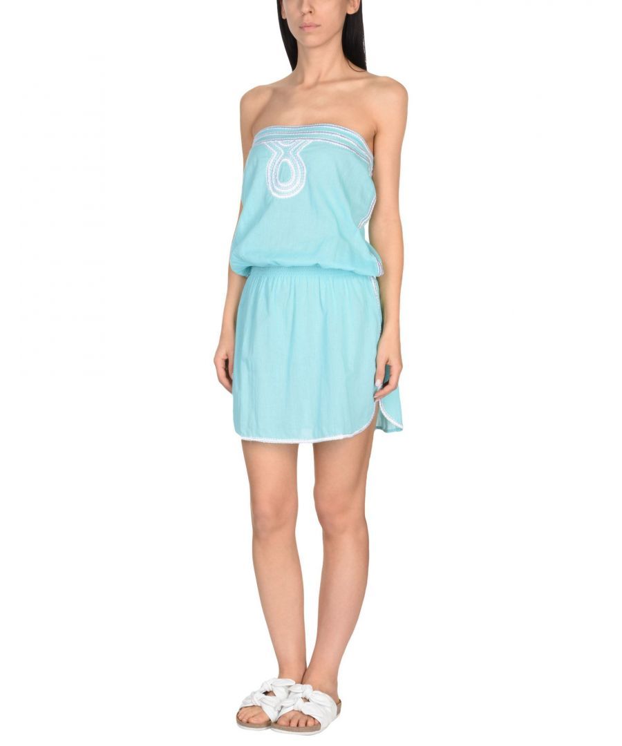 Image for Heidi Klein Turquoise Cotton Bandeau Dress
