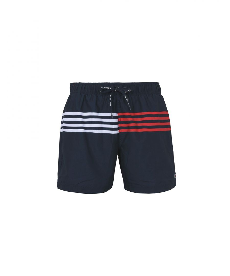 Image for Tommy Hilfiger Dark Blue Techno Fabric Swim Shorts