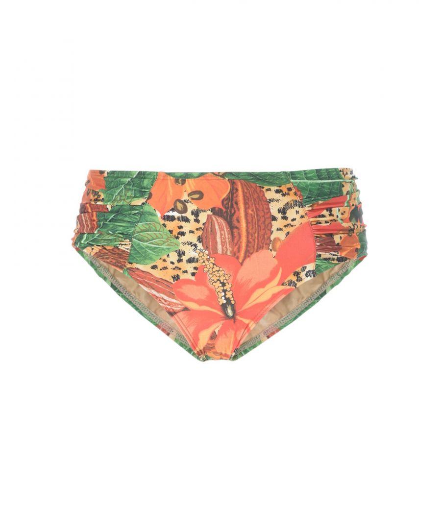 Image for Agua De Coco Por Liana Thomaz Rust Floral Print Bikini Briefs