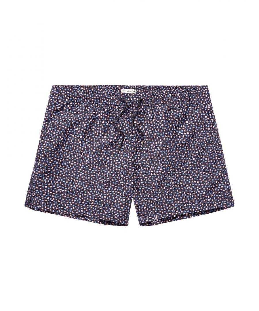 Image for Club Monaco Dark Blue Print Swim Shorts