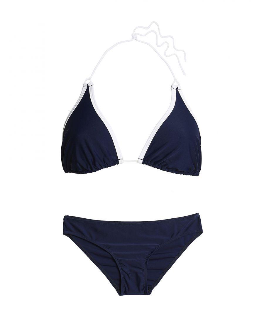 Image for Perfect Moment Dark Blue String Bikini Set