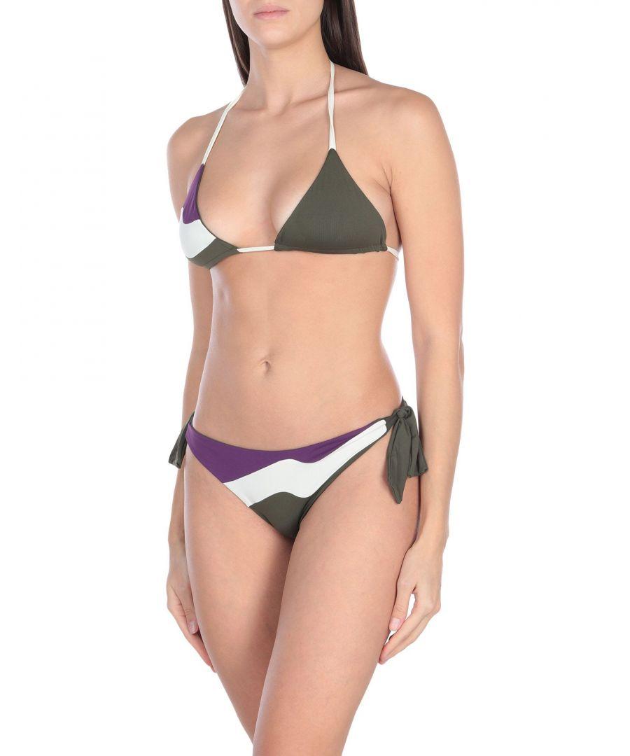 Image for S And S Military Green Print String Bikini Set