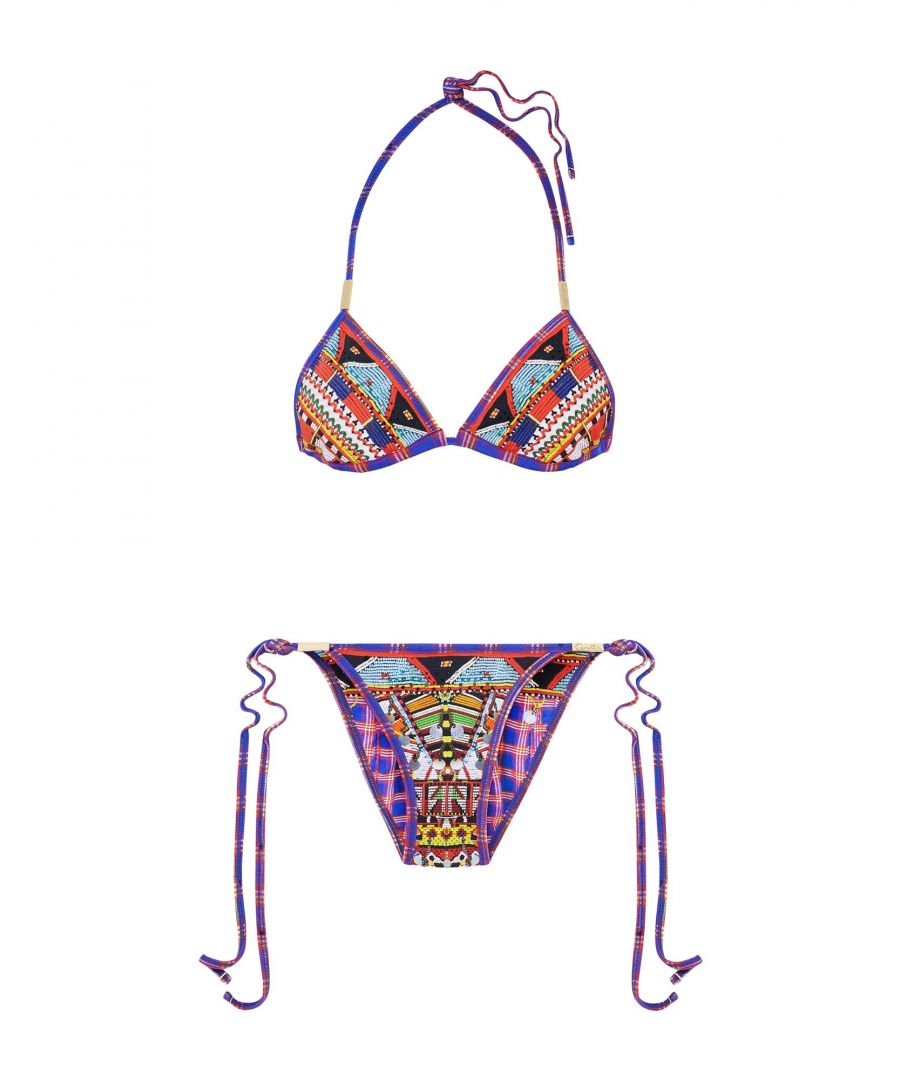 Image for Camilla Purple Print String Bikini Set